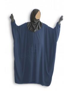 """Abaya papillon Umm Hafsa """"Caviary Luxe"""" - Bleu marine"""