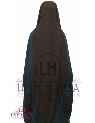 Niqab/Sitar 3 voiles 95 cm- Marron
