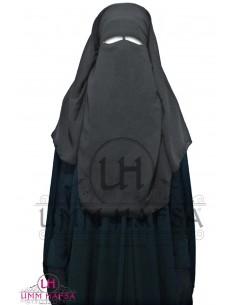 Niqab/Sitar 3 voiles 95 cm- Gris