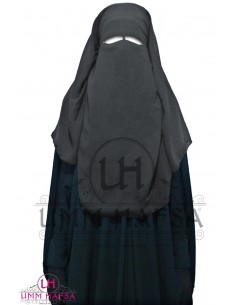 Three Layer Flap Niqab Umm Hafsa - Grey