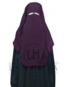 Niqab/Sitar 3 voiles 95 cm- Prune