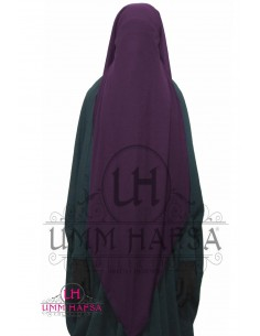Three Layer Flap Niqab Cap Umm Hafsa - Plum