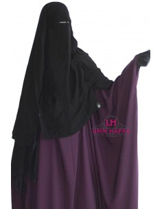 Niqab Cape Flap with Snap Buttons 1m50 - Black