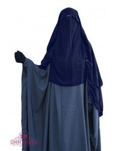 Niqab Cap von UmmHafsa 1m50- blau
