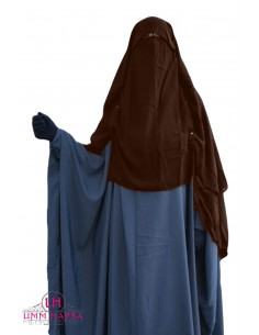 Niqab Cape Flap with Snap Buttons 1m50 - Brown