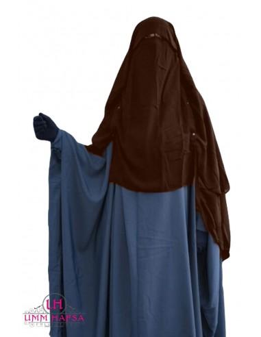 Niqab/Sitar Casquette à clips Umm Hafsa 1m50 - Marron