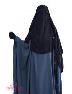Niqab Cap von UmmHafsa 1m50- grau
