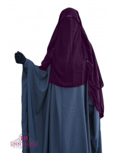 Niqab Cape Flap with Snap Buttons 1m50 - Plum
