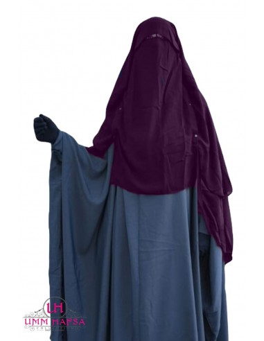 Niqab/Sitar Casquette à clips Umm Hafsa 1m50 - Prune