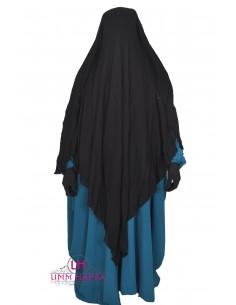 Niqab/Sitar cape à clips Umm Hafsa 1m60 - Noir