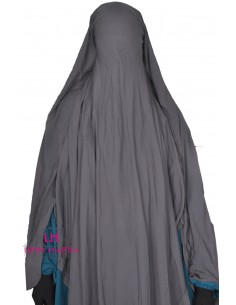 Niqab Cape Flap with Snap Buttons 1m60 - Grey