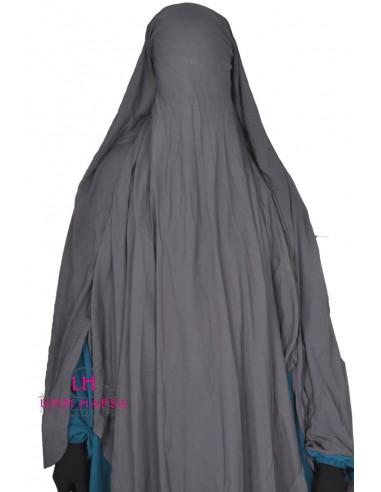 Niqab- Cape von UmmHafsa 1m60- grau