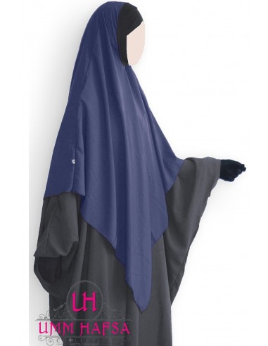 Hijab / Khimar Lycra Umm Hafsa - bleu