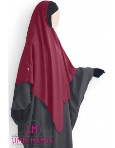 Hijab / Khimar Lycra Umm Hafsa - Bordeaux