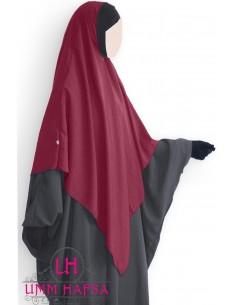Hijab / Khimar Lycra Umm Hafsa - Burgund