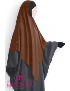 Hijab / Khimar Lycra Umm Hafsa - Zimtfarbe