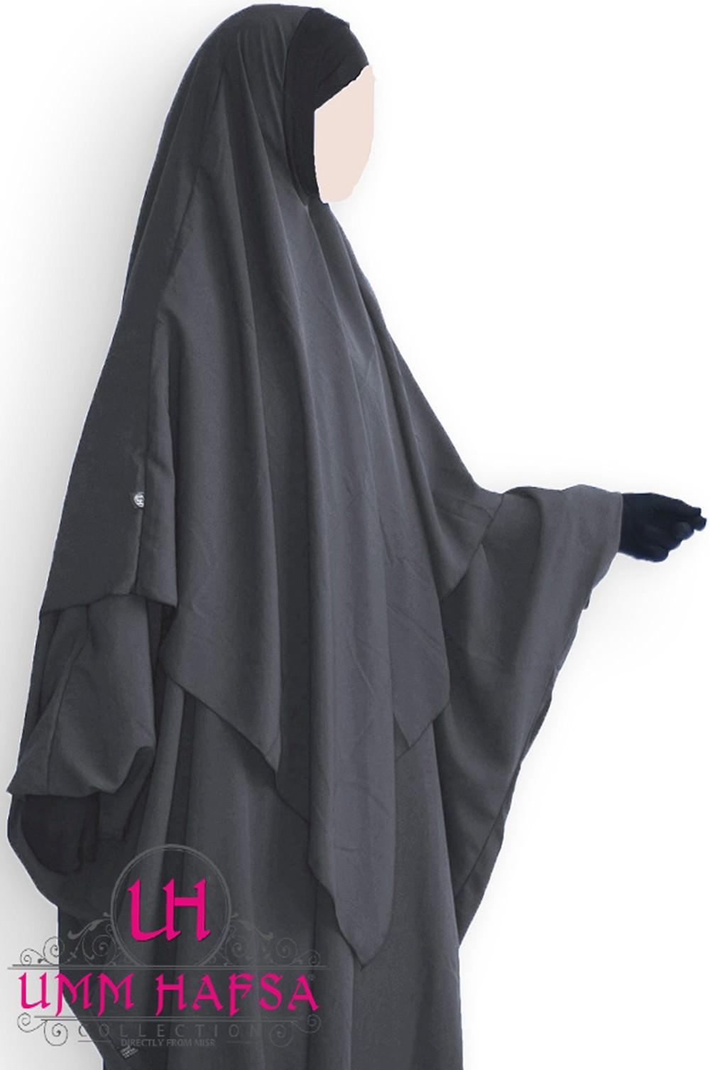 Hijab / Khimar Lycra Umm Hafsa - Gris