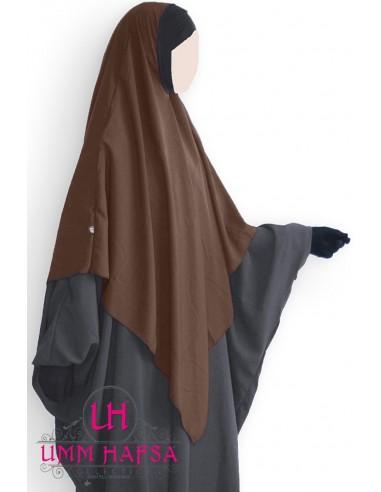 Hijab / Khimar Lycra Umm Hafsa - Marron