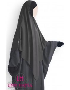 Hijab / Khimar Lycra Umm Hafsa - Noir