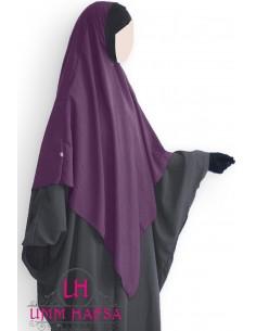 Hijab / Khimar Lycra Umm Hafsa - Pflaume