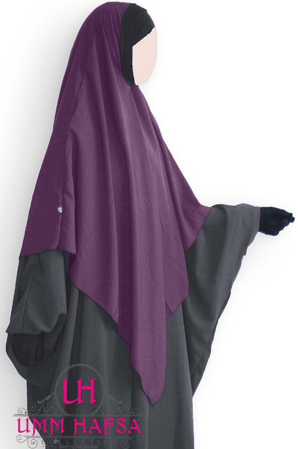 Hijab / Khimar Lycra Umm Hafsa - Prune