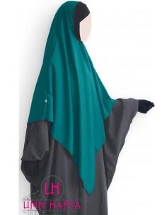 Hijab / Khimar Lycra Umm Hafsa - Vert canard
