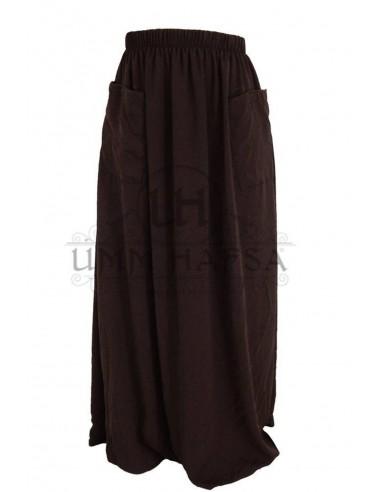 Jupe à poches Umm Hafsa - Marron