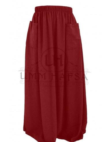 Jupe à poches Umm Hafsa - Bordeaux