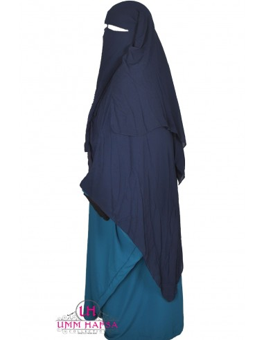 Niqab/Sitar 3 voiles 1m50- Bleu