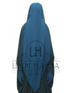 Three Layer Flap Niqab Cap Umm Hafsa - Blue