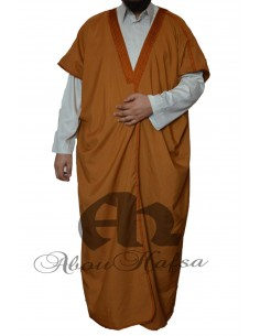 Design bisht for men Abou Hafsa - brown pattern
