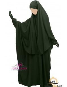 Ensemble Abaya/hijab Cape Umm Hafsa - Kaki