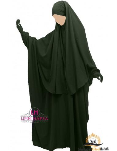 Abaya/Hijab Cape Umm Hafsa - Green