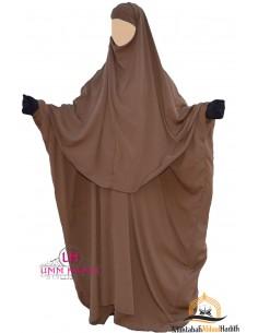 Ensemble Abaya/hijab Cape Umm Hafsa - Cannelle