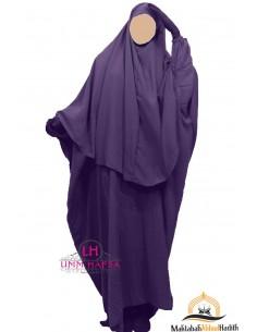 Abaya/Hijab Cape Umm Hafsa - Eggplant