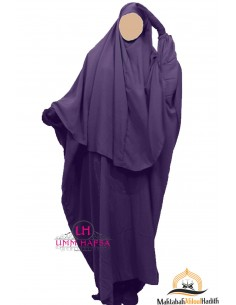 Ensemble Abaya/hijab Cape Umm Hafsa - Aubergine