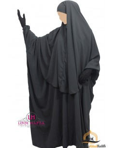 Ensemble Abaya/hijab Cape Umm Hafsa - Gris