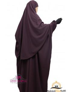 Ensemble Abaya/hijab Cape Umm Hafsa - Prune