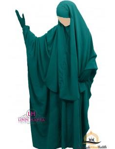 Ensemble Abaya/hijab Cape Umm Hafsa - Vert canard