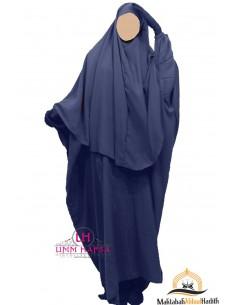 Ensemble Abaya/hijab Cape Umm Hafsa - bleu
