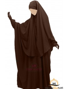 Ensemble Abaya/hijab Cape Umm Hafsa - Marron