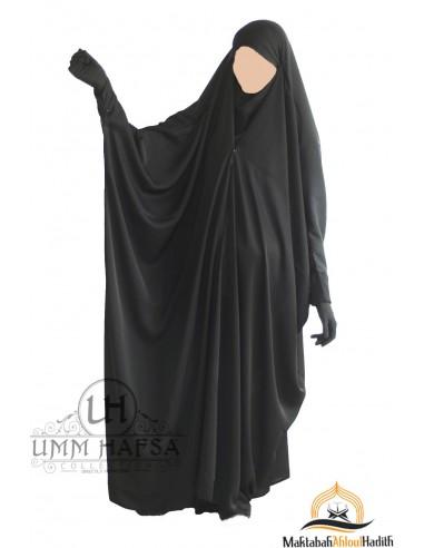 """Jilbab saoudien a clips Umm Hafsa """" Nidha luxe """" - Black"""
