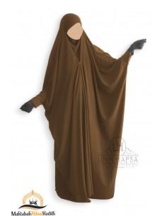 Saudi Jilbab mit Druckknöpfen Umm Hafsa - Zimtfarbe