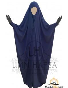 Saudi Jilbab mit Druckknöpfen Umm Hafsa - Blau