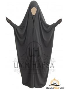 Saudi Jilbab mit Druckknöpfen Umm Hafsa - Grau