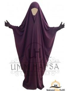 Saudi Jilbab mit Druckknöpfen Umm Hafsa - Pflaume