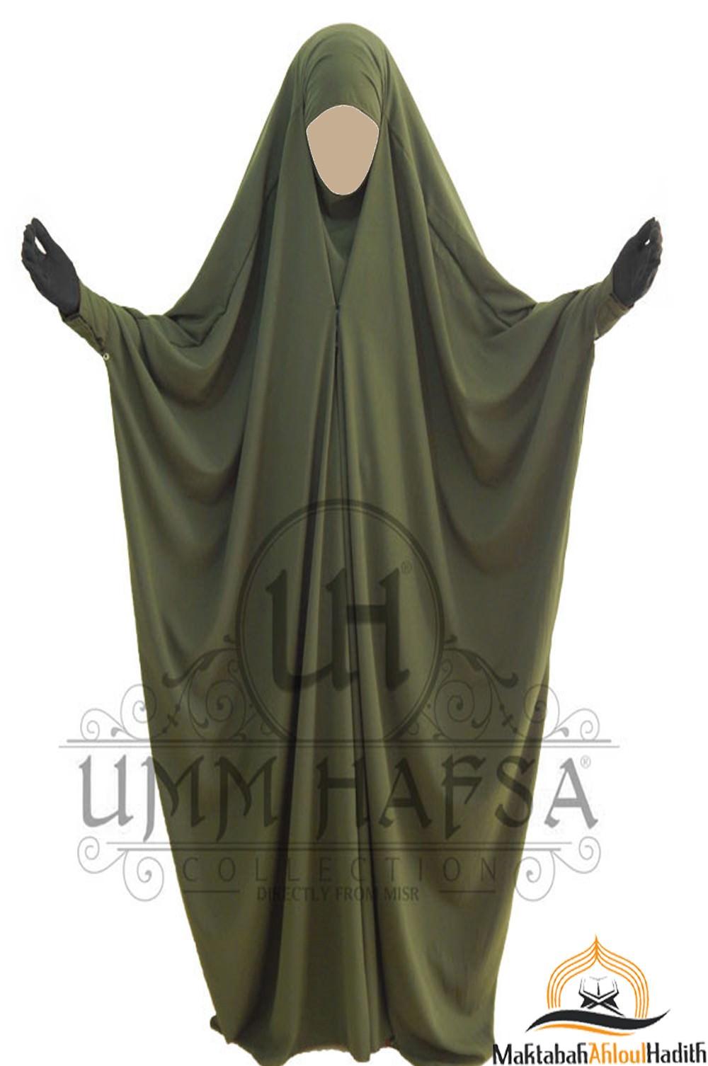Jilbab Saoudien a clips Umm Hafsa - Vert kaki