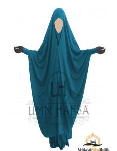 """Jilbab 2 pieces à clips """"jupe"""" Umm Hafsa - Vert Canard"""