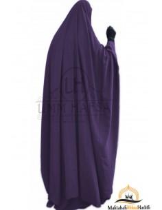"Jilbab à zip ""jupe"" Umm Hafsa - Aubergine"