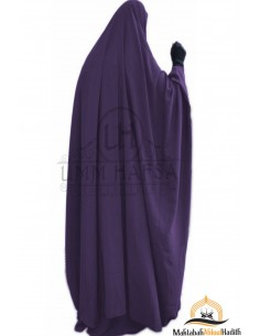 "jilbab zip ""Skirt"" Umm Hafsa - Eggplant"